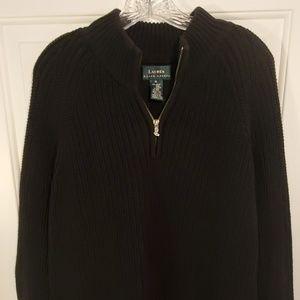 Ralph Lauren Black Cable Knit Sweater Size XL